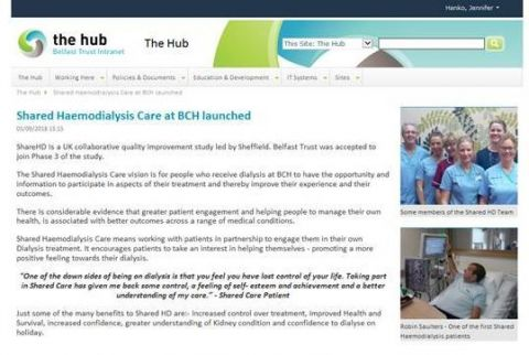 Belfast Launches Shared Haemodialysis care